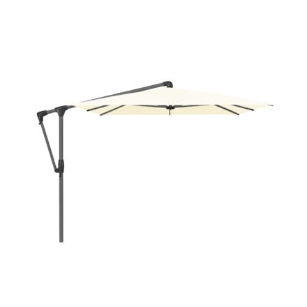 """Sonnenschirm """"SUNWING® Casa"""", Gestell Aluminium anthrazit, eckig, von GLATZ, Dessin 649 - Ivory (© by GLATZ AG, Schweiz)"""