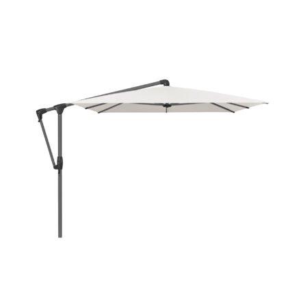 """Sonnenschirm """"SUNWING® Casa"""", Gestell Aluminium anthrazit, eckig, von GLATZ, Dessin 500 - Plaster (© by GLATZ AG, Schweiz)"""
