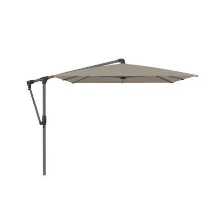 """Sonnenschirm """"SUNWING® Casa"""", Gestell Aluminium anthrazit, eckig, von GLATZ, Dessin 611 - Sandstone (© by GLATZ AG, Schweiz)"""