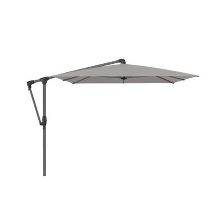 """Sonnenschirm """"SUNWING® Casa"""", Gestell Aluminium anthrazit, eckig, von GLATZ, Dessin 652 - Silver Melange (© by GLATZ AG, Schweiz)"""