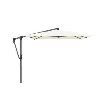 """Sonnenschirm """"SUNWING® Casa"""", Gestell Aluminium anthrazit, eckig, von GLATZ, Dessin 510 - White (© by GLATZ AG, Schweiz)"""