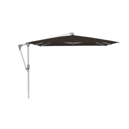 """Sonnenschirm """"SUNWING® Casa"""", Gestell Aluminium natureloxiert, eckig, von GLATZ, Dessin 408 - Black (© by GLATZ AG, Schweiz)"""