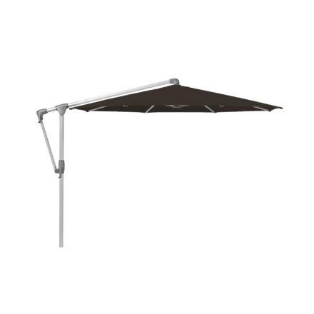 """Sonnenschirm """"SUNWING® Casa"""", Gestell Aluminium natureloxiert, rund, von GLATZ, Dessin 408 - Black (© by GLATZ AG, Schweiz)"""
