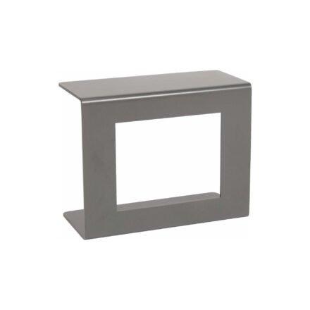 Stern Beistelltisch, Gestell und Ablagefläche Aluminium graphit