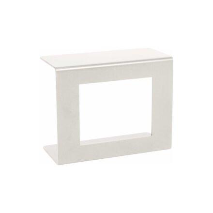 Stern Beistelltisch, Gestell und Ablagefläche Aluminium weiß