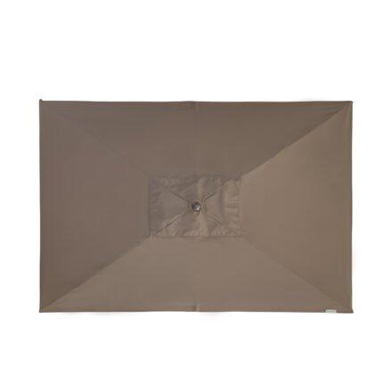 "Doppler ""Alu Wood"" Kurbelschirm 300x200 cm, Bezug Farbe Greige"