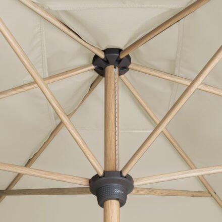 "Doppler ""Alu Wood"" Kurbelschirm 300x200 cm, Bezug Farbe Natur"