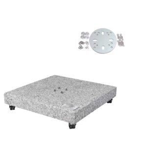 Doppler Granitsockel 140 kg inkl. Adapterplatte für GLATZ Sonnenschirme