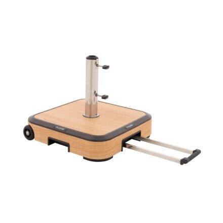 "Doppler ""Alu Wood"" Schirmsockel mit Aluminium-Hülle, Gewicht 50 kg"