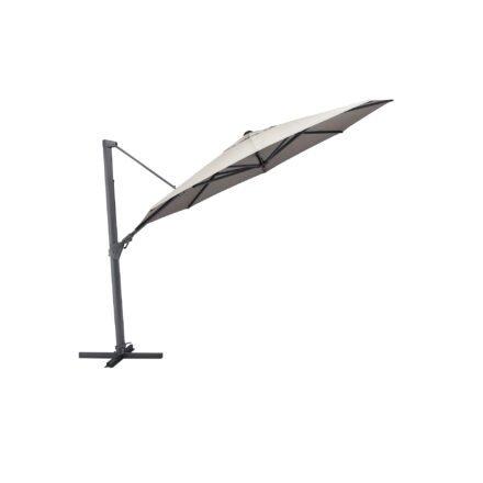 """Kettler """"Easy Swing"""" Pendelschirm Ø 350 cm, Alu silber, Schirmbezug charcoal"""