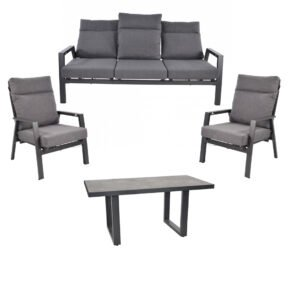 "Lesli Living Casual-Dining-Set mit Loungesofa und Loungesessel ""Ohio"" und Casual-Dining-Tisch ""Murcia"""