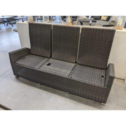 """Ploß """"Rocking Comfort"""" 3-Sitzer Loungesofa, Gestell Aluminium, Geflecht Polyrattan grau-braun meliert, Ansicht ohne Auflage"""