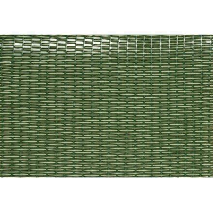 Sonnenpartner Strandkorb PVC-Geflecht grün mit beigen Nadelstreifen