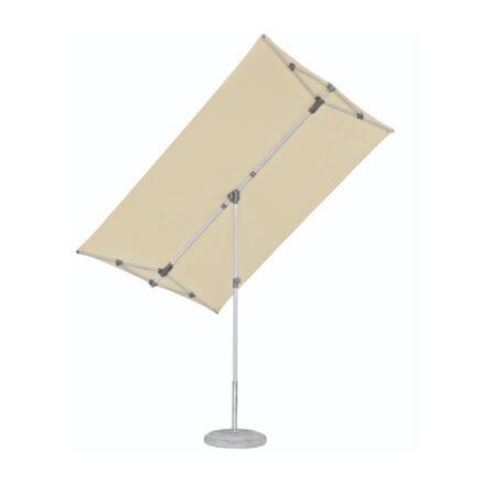 """Sonnenschirm """"Flex-Roof"""" von SUNCOMFORT® by GLATZ, eckig, 210 cm x 150 cm, Dessin 040 - Ecru"""