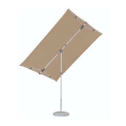 """Sonnenschirm """"Flex-Roof"""" von SUNCOMFORT® by GLATZ, eckig, 210 cm x 150 cm, Dessin 053 - Offgrey"""