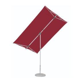"""Sonnenschirm """"Flex-Roof"""" von SUNCOMFORT® by GLATZ, eckig, 210 cm x 150 cm, Dessin 064 - Aurora Red"""