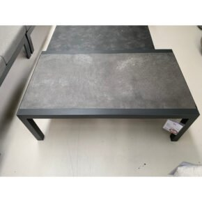 "Lesli Living ""Ohio"" Loungetisch, Gestell Aluminium charcoal, Tischplatte Keramik stone, Retoure Ausstellung Stockach"
