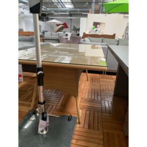 """Rausch """"Florida"""" Gartentisch, Gestell Aluminium, Polyrattan-Geflecht natur, Tischplatte Glas, Retoure Ausstellung Stockach"""