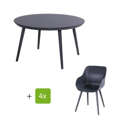 "Hartman Gartenmöbel-Set mit Stuhl ""Sophie Studio Organic"" und Tisch ""Studio 128"", Aluminium Farbe Xerix"