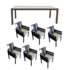 """Gartenmöbel-Set 7-tlg. mit Stuhl """"Siara"""" und Ausziehtisch """"Livorno"""""""