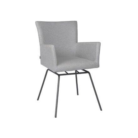 Stern Sessel Artus VIP, Gestell Edelstahl anthrazit, Sitzfläche Outdoorstoff kristall silber