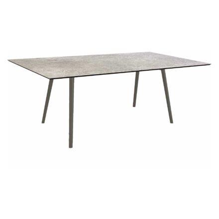 """Stern Tisch """"Interno"""", Größe 180x100cm, Alu anthrazit, Rundrohr, Tischplatte HPL Vintage Stone"""