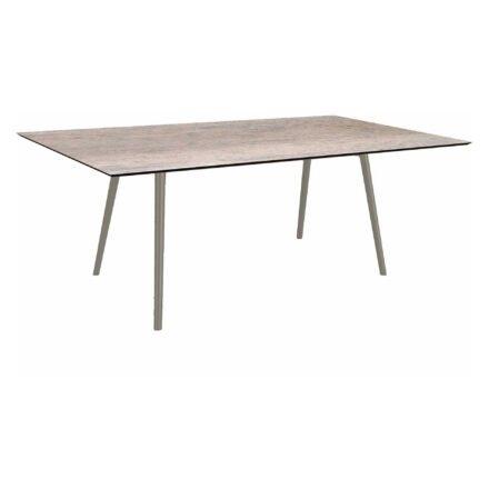 """Stern Tisch """"Interno"""", Größe 180x100cm, Alu graphit, Rundrohr, Tischplatte HPL Smoky"""