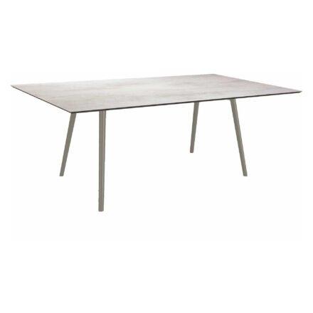 """Stern Tisch """"Interno"""", Größe 180x100cm, Alu graphit, Rundrohr, Tischplatte HPL Zement hell"""