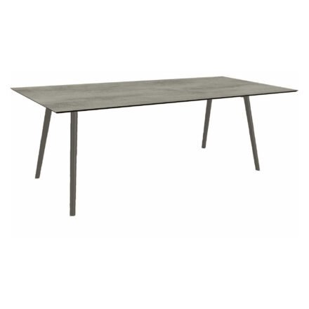 """Stern Tisch """"Interno"""", Größe 220x100cm, Alu anthrazit, Rundrohr, Tischplatte HPL Zement"""