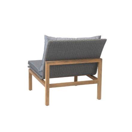 """Stern """"Leah"""" Lounge-Mittelelement, Gestell Teakholz, Sitz- und Rückenfläche Rope steingrau"""