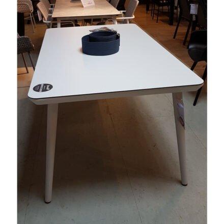 """Hartman """"Sophie Studio"""" Gartentisch, Gestell Aluminium weiß, Tischplatte HPL weiß, Ausstellung Lauchringen"""
