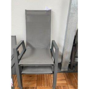 """Siena Garden """"Calun"""" Diningsessel move, Gestell Aluminium matt graphit, Sitzfläche Textilgewebe jeans-grau, Ausstellung Stockach"""