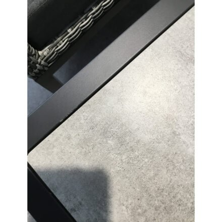 "Hartman Diningtisch ""Porto Rico"", Gestell Aluminium xerix, Tischplatte Keramik beige wood - Ausstellung Stockach"