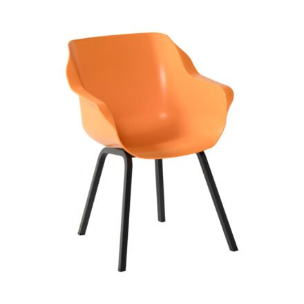 "Hartman ""Sophie Element"" Armchair, Gestell Teakholz, Sitzfläche Kunststoff Indian Orange"