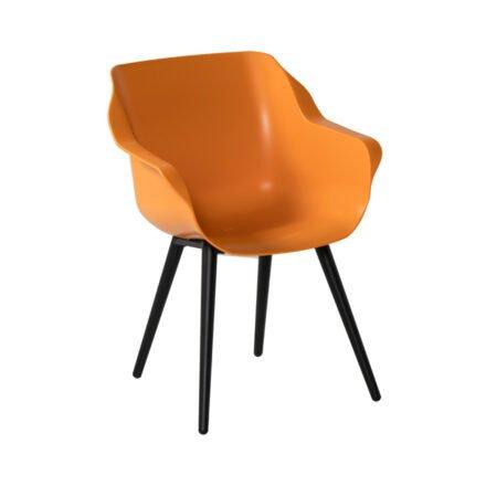 """Hartman """"Sophie Studio"""" Armchair, Gestell Teakholz, Sitzfläche Kunststoff Indian Orange"""