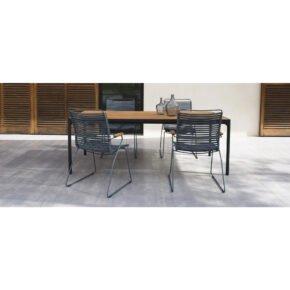 """Houe Gartenmöbel-Set mit Tisch 160x90 cm """"Four"""" und acht Stapelstühlen """"Click"""""""