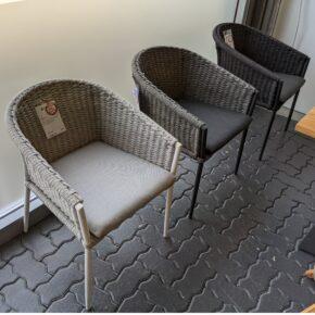 "Jati&Kebon Dining-Sessel ""Fortuna"", Gestell Aluminium, Sitz & Rücken Rope press weaving, inkl. Sitzkissen"