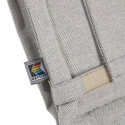 """Kettler """"Smell"""" Auflage hellgrau meliert, Detail Logo"""