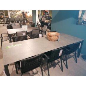 "SIT Mobilia ""Manhattan"" AZ-Tisch 180/240/300x95 cm, Aluminium eisengrau, Tischplatte Dekton Kreta - Ausstellung Stockach"