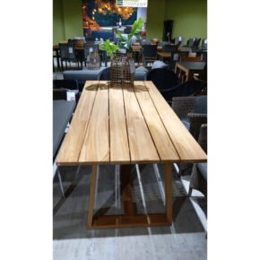 """Brafab """"Laurion"""" Gartentisch, Gestell und Tischplatte Teakholz, 230x100 cm - Ausstellung"""