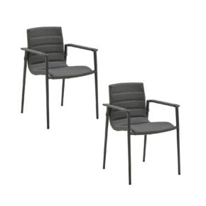"Cane-line ""Core"" Stapelstuhl, Gestell Aluminium lavagrau, Sitzfläche Cane-line SoftTouch® grau"