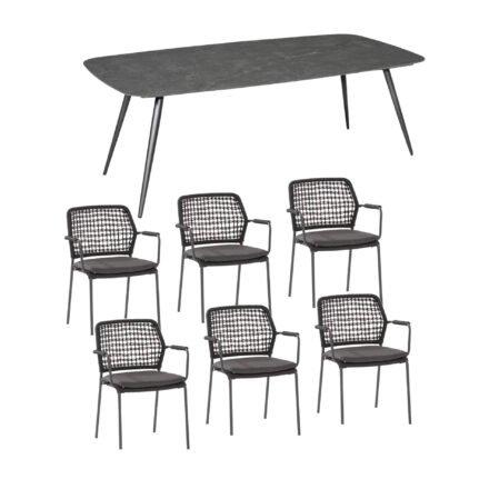 """Gartenmöbel-Set mit Gartenstuhl """"Barista"""" von 4Seasons Outdoor und Tisch """"Amazone"""" von Jati&Kebon"""