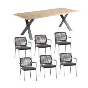 """Gartenmöbel-Set mit Gartenstuhl """"Barista"""" von 4Seasons Outdoor und Tisch """"Novara"""" von Niehoff"""