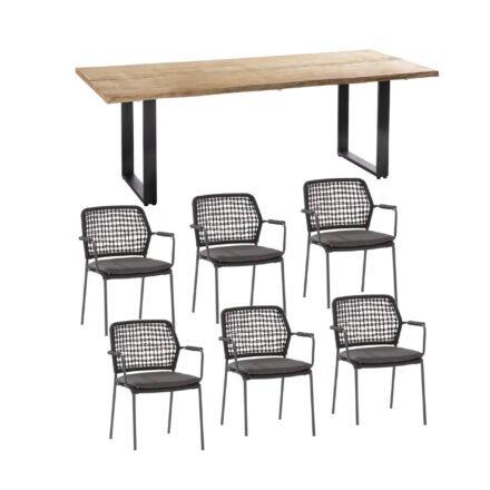 """Gartenmöbel-Set mit Gartenstuhl """"Barista"""" von 4Seasons Outdoor und Tisch """"Solid"""" von Niehoff"""