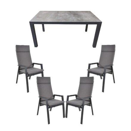 """Lesli Living Gartenmöbel-Set mit Hochlehner """"Amir"""" und Tisch 160x90cm """"Murcia"""