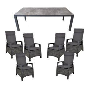 """Lesli Living Gartenmöbel-Set mit Diningsessel """"Prato Forte"""" und Tisch 220x100cm """"Murcia"""