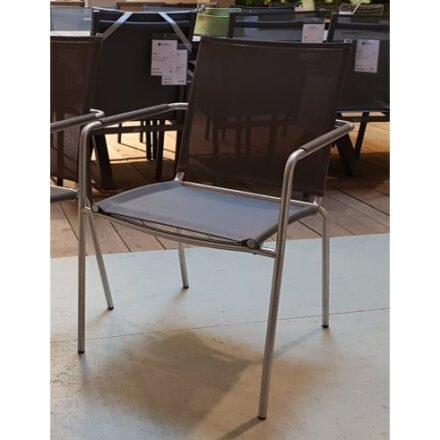 "SIT Mobilia ""Sevilla"" Stapelsessel, Gestell Edelstahl, Sitzfläche Textilgewebe taupe"