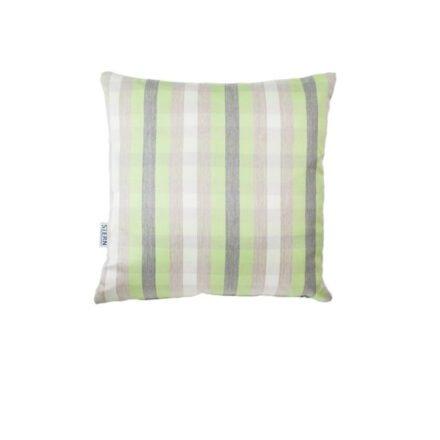 Stern Dekokissen 45x45cm, Sunbrella, Dessin Karo grün
