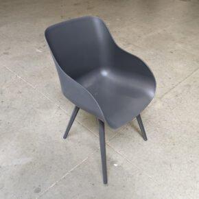 "Hartman ""Sophie Studio"" Organic Chair, Gestell Aluminium xerix, Sitzschale Kunststoff xerix, Ausstellung Karlsruhe"