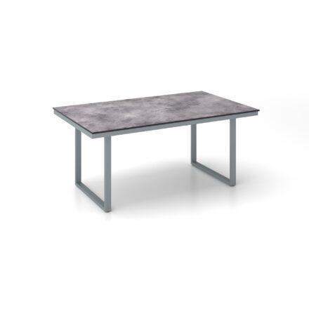 """Kettler """"Skate"""" Gartentisch Casual Dining, Gestell Aluminium silber, Tischplatte HPL anthrazit, 160x95 cm, Höhe ca. 68 cm"""